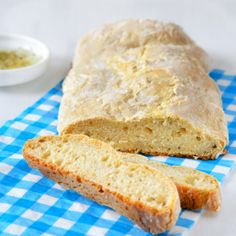 Homemade ciabatta with rosemary and garlic