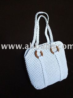 Macrame bag.  Still in?