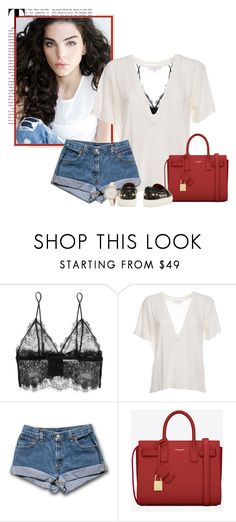 """can you see me?"" by camilasantana ❤ liked on Polyvore featuring Anine Bing, IRO and Yves Saint Laurent"