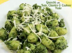 Gnocchi with Kale, Cilantro, and Cashew Pesto
