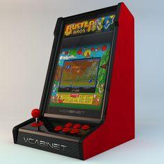 #VCabinet #bartop 3/4 Retropie Arcade, Bartop Arcade, Arcade Console, Arcade Room, Mini Arcade, Arcade Games, Old Game Consoles, Gaming Cabinet, Electronic