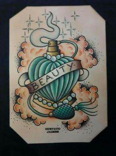 'beauty' perfume bottle