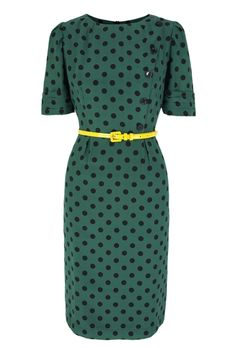 Greta silk crepe de chine, 1940s influence tea dress with softly tailored flattering lines. Mid sleeve and skirt below the knee.  The dress is cut to be slightly high waisted to lengthen the form.  The dress is fully lined. There is a tulip curved centre back slit.