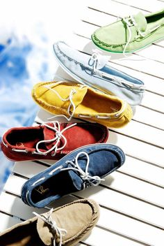 boat shoes /styling for status magazine  Had all different colors back in the 80's. Topsiders the only way to sail.
