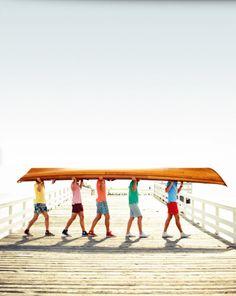 summer fun ~ 5 boys in a boat!