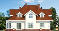 Dom w wiciokrzewie Bungalow Style House, Architecture Design, Shed, New Homes, Floor Plans, Outdoor Structures, Cabin, Mansions, House Styles