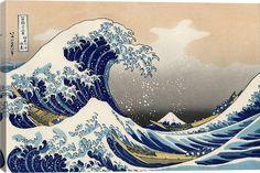 The Great Wave at Kanagawa 1829 by Hokusai Canvas Print