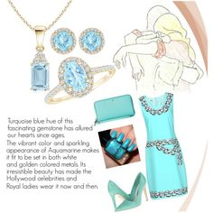 Celebrate Aquamarine Month by angarainc on Polyvore featuring Alice + Olivia, Kate Spade and Tiffany & Co.