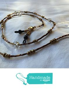 Bronze and Gold Glass Beaded Eyeglass Lanyard 28 from Southern Women Crafts https://www.amazon.com/dp/B01N43YPYM/ref=hnd_sw_r_pi_dp_Im5oybT7P9TQC #handmadeatamazon