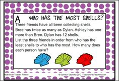 FREEBIE Math Brain Teasers - Make them think with these printable Math Problems and Math Brain Teasers Cards from Games 4 Learning. This set contains 7 Math Brain Teaser Cards.
