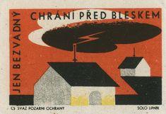 Czechoslovakian matchbox label