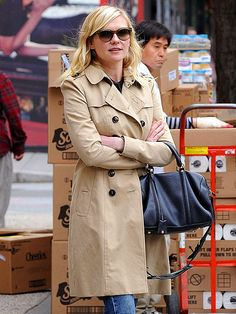 Kirsten Dunst. Good hair. Good jacket.
