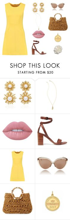 """There's Only Up From Here"" by smileforsierra ❤ liked on Polyvore featuring Oscar de la Renta, Lilly Pulitzer, Lime Crime, Vince, Diane Von Furstenberg, Linda Farrow, Cappelli Straworld and Cara"