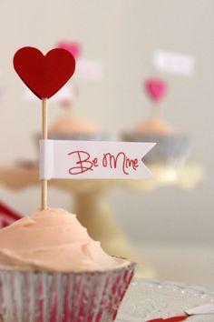 Valentine Cake Picks