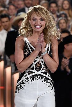 """Miranda Lambert accepts the award for Song of the Year for """"Autoamtic"""" at the 50th Annual Academy of Country Music Awards, Sunday, April 19, 2015 at AT&T Stadium in Arlington, Texas."""