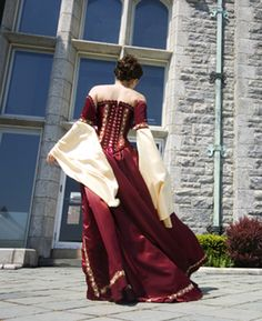 Back of gown by Now and Forever