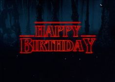 Front: Happy Birthday Inside: Hope you don't end up Upside Down...Stranger Things have happened. - Our one-hundred pound thick card stock prints beautiful deep crisp colors on a slightly toothy textur