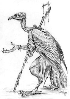 Vulture Beggar -- 2001 by caramitten