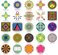Native American Design Symbols.  Kind of digging the turtle.
