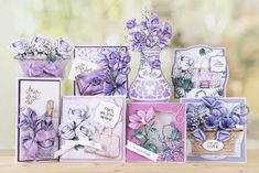 Part of the Violet Haze Collection by Tattered Lace Create And Craft, Crafts To Make, Tattered Lace Cards, Christmas Card Crafts, Scrapbook Cards, Scrapbooking, Birthday Cards For Women, Card Making Kits, Floral Garland