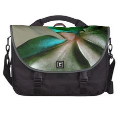 Artistic Flower in Blue, Green and Grey Tones / Laptop Bag #fomadesign