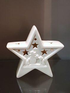 LED Figur Stern edel weiß edel Porzellan Weihnachten Xmas Advent Deko Trend