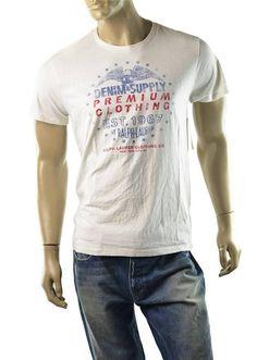 a9b5b2cbcdde Denim  amp  Supply Ralph Lauren T Shirt Mens Jersey and Crew Shirts Size M  NEW