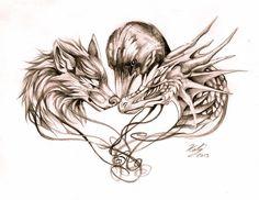 http://lucky978.deviantart.com/art/Wolf-Dragon-and-Crow-Tattoo-398055778