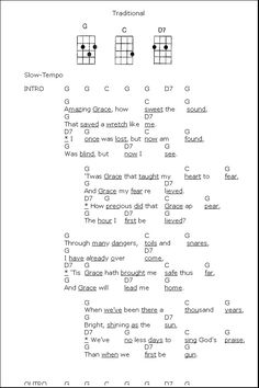 Ukulele Chords Amazing Grace In G