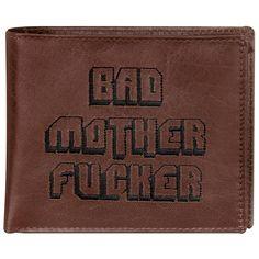 Portafoglio in vera pelle con ricami, tasca per monete, scomparti per banconote e 5 scomparti porta tessere. Dimensioni: 11 x 9,5 cm circa.