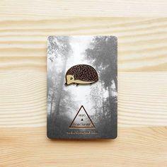 Woodland Series – Hedgehog Brooch *NEW* http://shop.thelittledromstore.com/product/hedgehog ©Hug A Porcupine