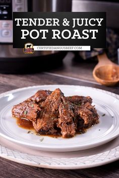 Make classic pot roast in an Instant Pot and enjoy a hearty, comforting family meal in a fraction of the time it takes to traditionally cook a roast in a Dutch oven. Best Roast Beef Recipe, Roast Beef Recipes, Beef Recipes For Dinner, Beef Appetizers, Potted Beef Recipe, Beef Stews, Cooking A Roast, Good Roasts, Angus Beef