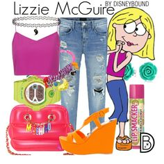 Lizzie McGuire by leslieakay on Polyvore featuring Boutique, Gianvito Rossi, Moschino, G-Shock, Bee Charming, Bling Jewelry, Topshop, McGuire, disney and disneybound