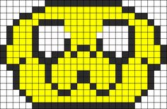 Adventure Time Jake Perler Bead Pattern
