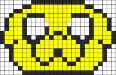 Adventure Time Jake Perler Bead Pattern