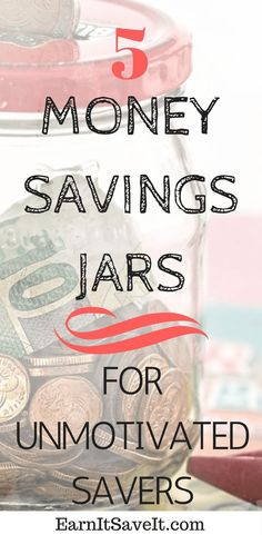 Here are 5 ideas for money savings jars that will kick start even the most unmotivated savers. Visual representations of your financial goals are key.