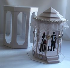 """Wedding gazebo I cut out on my silhouette from a file of """"Treasured Templates"""""""