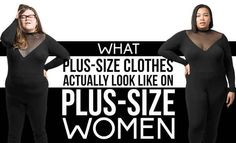 The sad truth delivered with hilarious commentary:  This Is What Plus-Size Clothes Look Like On Plus-Size Women