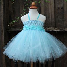 Aqua baby blue tutu dress, $65, Blooms And Bugs