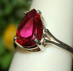 Sparkling Rare Cherry Red 3 Carat Mystic Topaz by WindstoneDesigns, $48.95