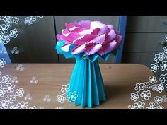 DIY Amazing Handmade Crafts. How to Make an Origami Vase for Paper Flowers - YouTube