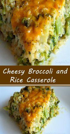 Broccoli Recipes, Vegetable Recipes, Vegetarian Recipes, Chicken Recipes, Cooking Recipes, Healthy Recipes, Cheesy Broccoli Rice Casserole, Vegetable Casserole, Broccoli And Rice