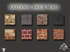 Eight walls ideal for outdoor, modern Found in TSR Category 'Sims 4 Walls' - Tours.