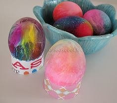 #Easter egg decoration with food colouring - free instructions #easter_egg
