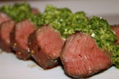 Sous Vide Fillet Steak with RocketPesto.