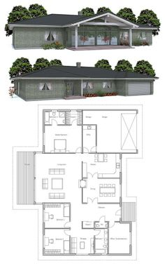 Simple house design, Floor Plan from ConceptHome.com