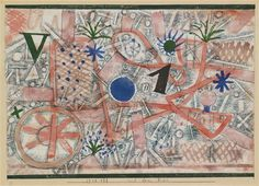 Paul Klee, MIT DEM RAD (WITH THE WHEEL) 1923