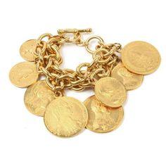 Ben Amun Moroccan Coin Layer Bracelet in Gold Women 24k Gold Jewelry, Coin Jewelry, Silver Bracelets, Beaded Bracelets, Charm Jewelry, Charm Bracelets, Statement Jewelry, Geek Jewelry, Ankle Bracelets