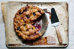 Lattice-Top Peach and Blueberry Pie with Rye Crust recipe: A perfect balance of sweet and tart Fun Desserts, Dessert Recipes, Dessert Healthy, Summer Pie, Summer Fruit, Late Summer, Best Pie, Crust Recipe, Food 52