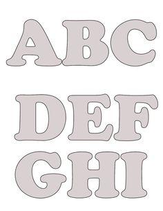 Blogg da Mirian: Mais moldes de letras do alfabeto com passo a passo Cut Out Letters, Felt Letters, Diy Letters, Alphabet Templates, Alphabet Stencils, Alphabet Art, Felt Name Banner, Name Banners, Writing Fonts